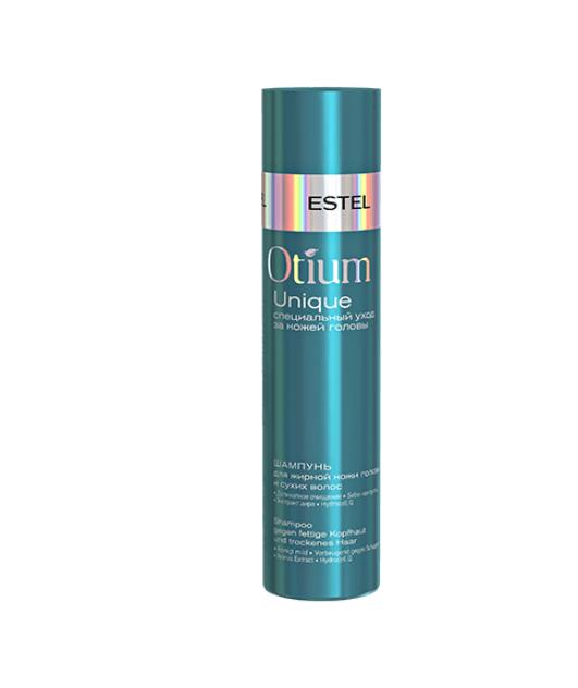 Шампунь для жирной кожи головы и сухих волос OTIUM UNIQUE